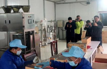 山西恒山茶业公司邀请上级媒体前来采风